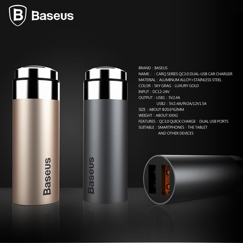 Baseus-CARQ-Series-Quick-Charge-QC3-0-USB-Car-Charger-For-iPhone-6-6s-5s-For